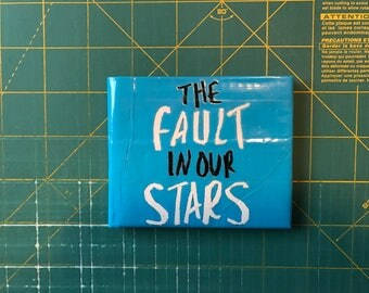 Electric Blue, White, and Black Duct Tape Bifold Wallet with The Fault in Our Stars Design