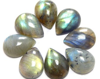 Bumper offer 73.10 ct approx Beautiful Lot of Stunning 8 Pieces Natural Labradorite Cabochon 13x18 mm pear shape calibrated Loose Gemstone