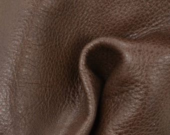 "Cocoa Powder Leather New Zealand Deer Hide 8"" x 10"" Pre-cut 2 1/2-3 ounces TA-56456 (Sec. 4,Shelf 6,C)"