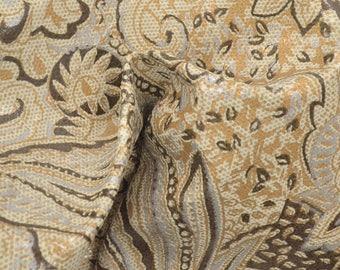 "Fashion Pretty Prairie Paisley Leather Pig Hide 12"" x 12"" Project Piece 1-1 1/2 oz TA-56813 (Sec. 5,Shelf 2,B)"