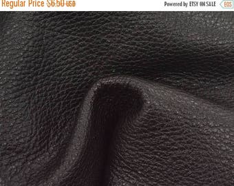 "NZ Deer Sale Smokey Black Leather New Zealand Deer Hide 8"" x 10"" Pre-Cut 4-4 1/2 ounces TA-56215 (Sec. 3,Shelf 4,C)"