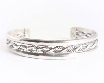 Vintage Taxco Mexican Sterling Cuff Bracelet