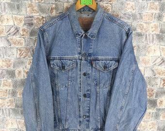 Single Stitch 70s LEVIS 70505 0217 Denim Jacket w/ KAWASAKI Patches 1OF9Ll