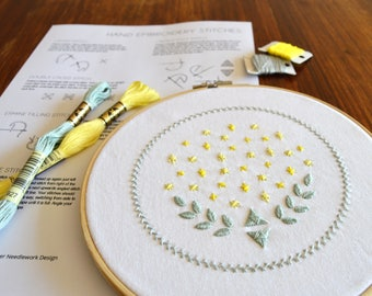 Stargazer Sampler hand embroidery pattern, embroidery sampler, modern embroidery, embroidered patches, PDF pattern, digital download