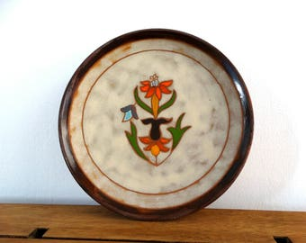 Cottage Ceramic Decor, Greek Ceramic, Ceramic Plate, Decorative Plate, Ceramic Wall Hanging, Ceramic Art, Wall Plaque, CottageCeramic