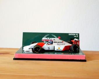 Minichamps, McLaren MP 4/9 Peugeot, McLaren Matchbox Car, Miniature Car, Die Cast Car, Mc Laren Scale 1:43, Model Car, McLaren Miniature