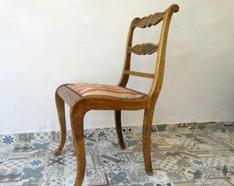 Antique Wooden Chair, Old Chair, Wooden Carved Chair, Dining Chair, Bistro Chair, Boho Chair, Rustic Chair, Bentwood Chair, Retro Chair