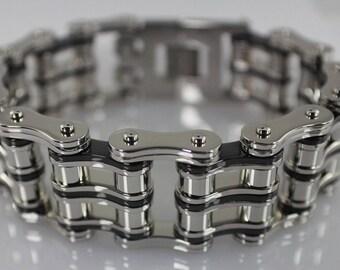 Easy Rider Stainless Steel Chain Bracelet 1 Inch