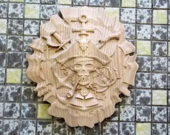 Halloween Decor Pirate, Wooden Pirate, Pirate Home Decor, Pirate Decor, Pirate Wall Hanging, Pirate Wall Art, Pirate Hat, Gothic Decor
