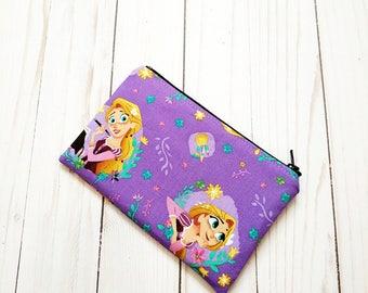 Rapunzel Toss Purple Small Zipper Pouch