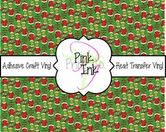 Christmas // Grinch // Adhesive Vinyl and Heat Transfer Vinyl in pattern 860