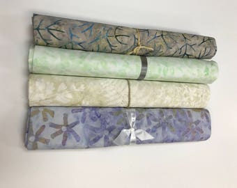 MAJESTIC BATIK BUNDLE - 4 Yards of Batiks from Majestic Batiks - Lights  #1C