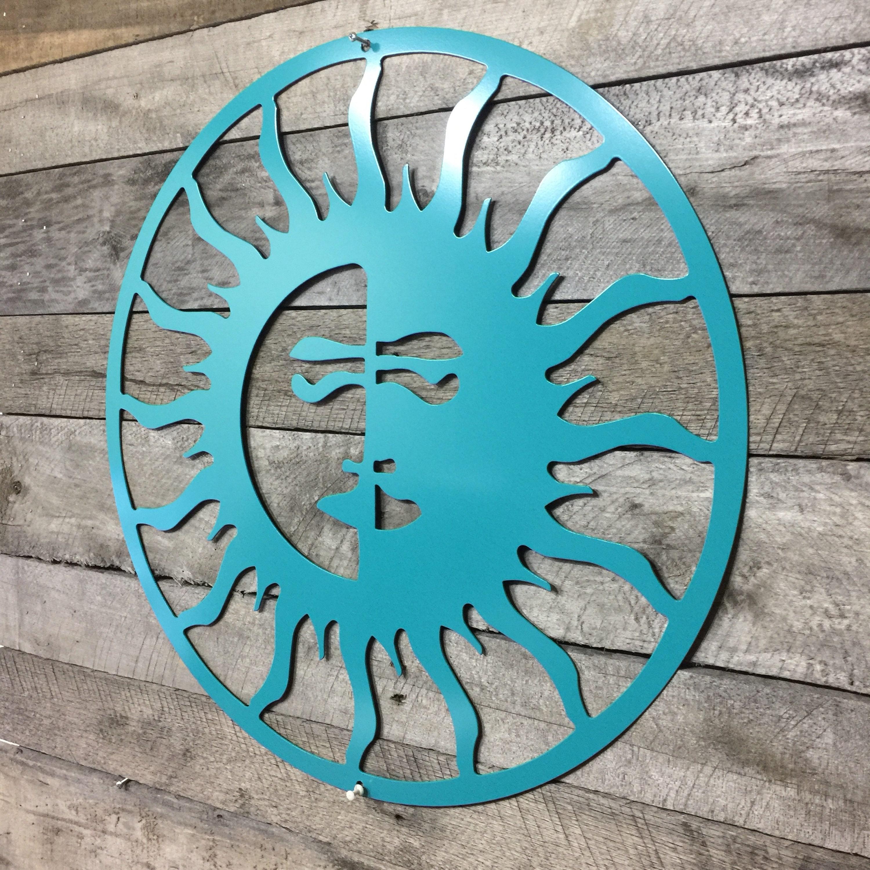 Sun Moon Outdoor Art Pool Custom Metal Wall