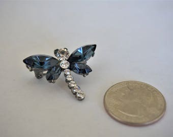 Vintage Dragonfly Brooch / Pin / Dragonfly Jewelry / Dragonfly Items / Insect Brooch / Pin / Insect Jewelry / Blue Brooch / Pin