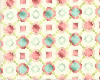 5 YARD BACKING SALE! Moda Floral Cross Stitch-Handmade by Bonnie and Camille Yardage 55144 18