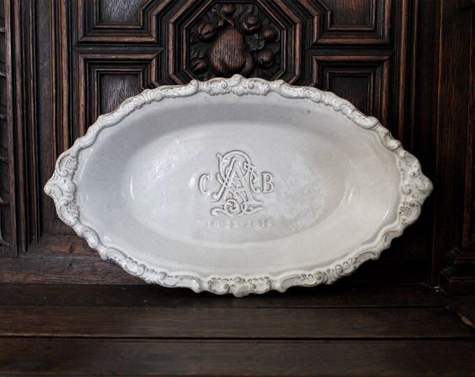 Custom Baroque Boat Dish