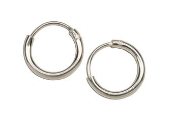 Sterling Silver Tiny Hoop Earrings for Girls (SSH-Tiny Hoop)
