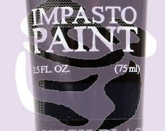 Prima Finnabair Art Alchemy IMPASTO Paint Heavy Body Acrylic Paint 2.5 oz  PITCH BLACK #964528