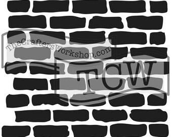 TCW Crafter's Workshop MINI BRICKS 6x6 Stencil Paint Mixed Media TCW191s