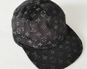 Louis Vuitton black denim baseball hat