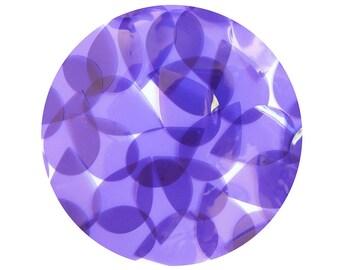 Teardrop Vinyl Shape Top Hole 1.5 inch Purple Go Go Transparent