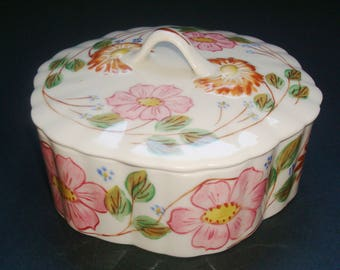 Blue Ridge China Floral Candy Box Trinket Box