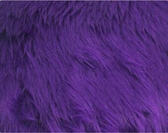 Purple Luxury Shag Faux Fur Fabric