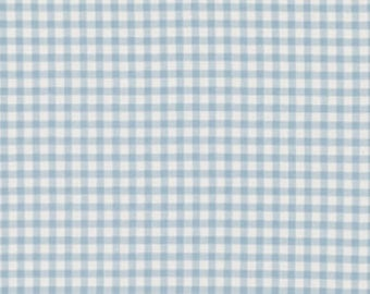 """Baby Blue 1/2"""" Gingham Check  - 44"""" wide - 100% cotton"""