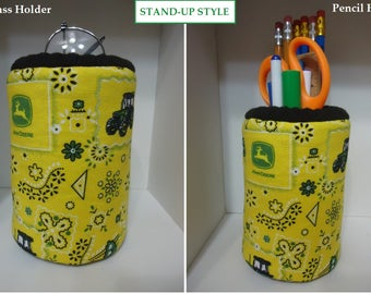 John Deere Fabric Eyeglass Holder Makes A wonderful Gift For All eyeglass Users at work at home Stand up Eyeglass Holder Or Pencil Holder