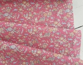 Memoire a Paris Cotton Lawn 2017 - Cottage(Red) - Lecien - Japan, Inc