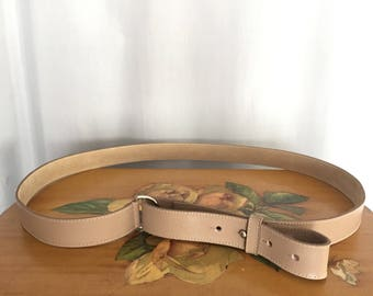 Tan Leather Belt Vintage size 3X