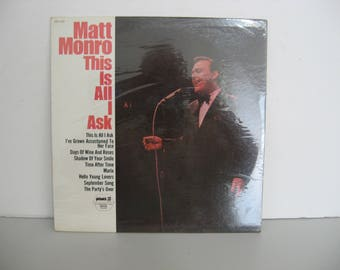NEW! Factory Sealed! - Matt Monro - This Is All I Ask - Circa 1977