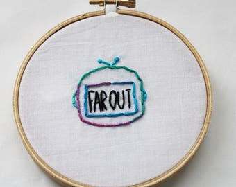 Far Out Space Embroidery