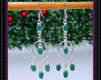 Green Oynx Earrings