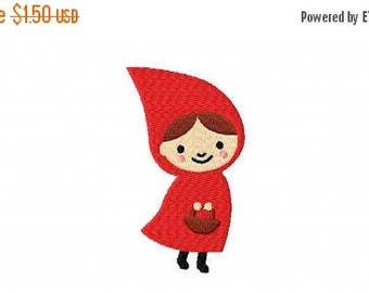 50% OFF - 4 X 4 Little Red Riding Hood Machine Embroidery Design Multiple Formats Available - Instant Download