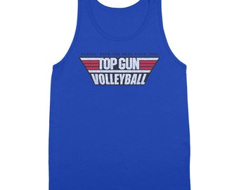 Top Gun Volleyball Team Costume Outfit Sand 80S Retro Navy Usmc Tank Top DT0212