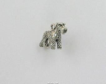Sterling Silver 3-D Schnauzer Dog Charm