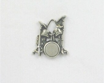 Sterling Silver Drum Kit Charm