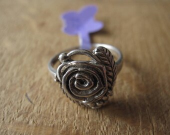 Sterling Silver Rose Flower Ring 9.25 (1150)