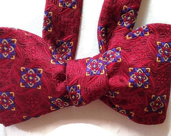 Silk Bow Tie for Men - L'Amour - One-of-a-Kind, Handcrafted - Self-tie - Free Shipping