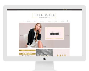 Ecommerce website design, Wix theme, photography website, branding, gold, custom website design, wedding planner 7300