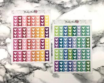 RF028 Mini Heart check list planner stickers- Choose Color