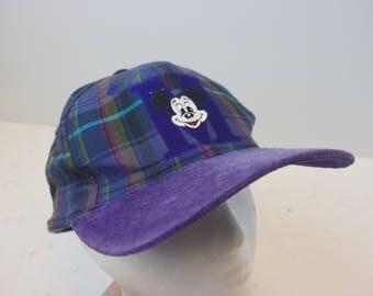 Mickey Mouse 90s Disney M logo hat cap low profile