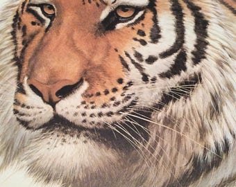 Guy Coheleach Signed Siberian Tiger Print/ 1971 Frame House  Gallery/Plate  No XVII