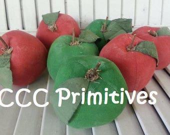 Primitive Apple Bowl Filler - Apple Bowl Filler - Summer Apples - Handmade Fruit - Handmade Apple - Prim Apples - Handmade Apples