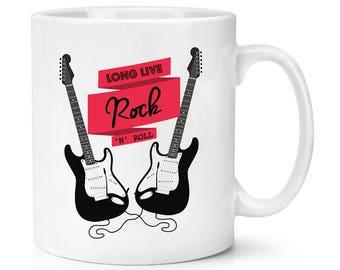 Long Live Rock N Roll Electric Guitar 10oz Mug Cup