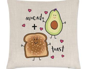 Avocado Plus Toast Linen Cushion Cover