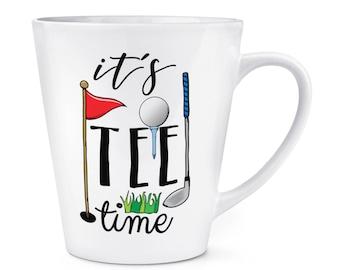 It's Tee Time Golf 12oz Latte Mug Cup