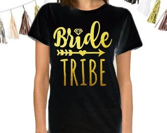 Bride Tribe - Bridesmaids Wedding Party T Shirts