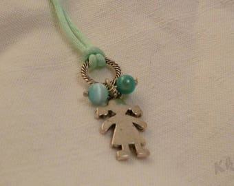 little boy blue pastel necklace